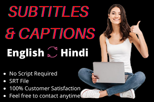 I will add subtitles or closed caption to your video up to 8 min