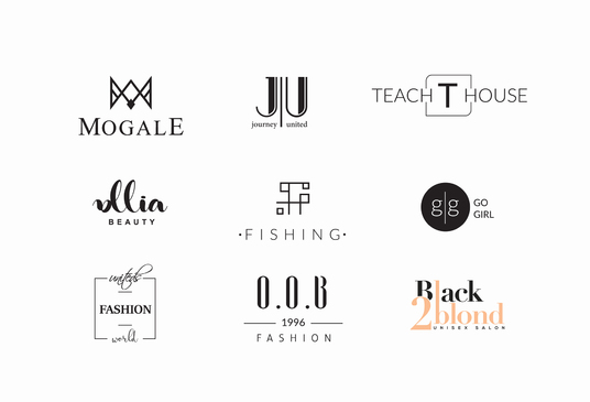 design name, personal logo with your initials