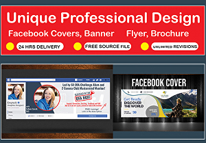 I will design facebook cover, banner or any other poster