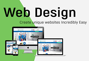 I will create a web design and build a responsive website