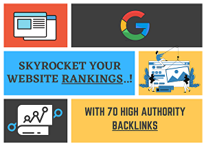 I will skyrocket your website with high authority backlinks