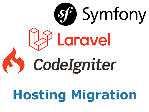 I will move / migrate Symfony, Laravel or CodeIgniter website to another server