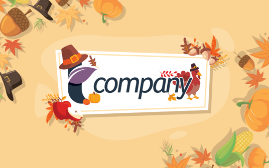 decorate your logo for thanksgiving or holiday theme