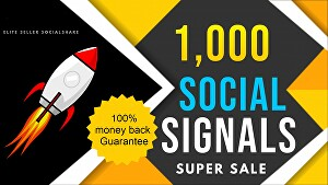 I will provide 1,000 PR10 Social Signals Backlinks / Bookmark / Help For Website Traffic Google R