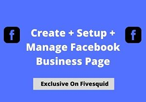 I will create, manage and setup your Facebook page