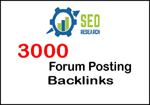 I will provide high da 3000 forum posting backlinks