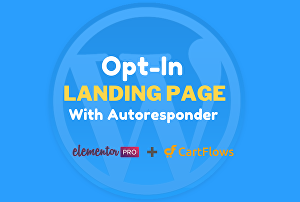 I will design gorgeous elementor opt-in landing page