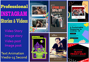 I will design  2 awesome Instagram Video stories and Posts for your business