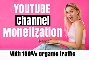 I will do promotion for youtube channel monetization
