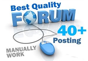 I will provide 40 forum posting backlinks
