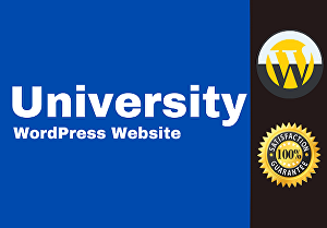 I will create for you a  university website with a WordPress Premium theme