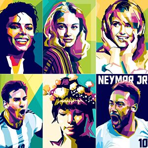 I will draw professional wpap pop art from your photo