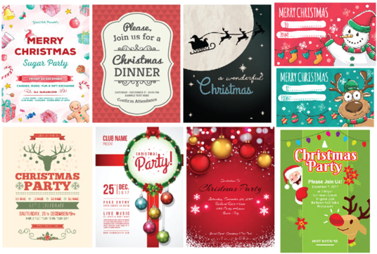 design amazing Christmas party poster and  Card