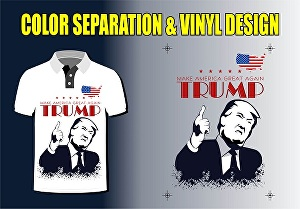 I will do color separation and vinyl designs, logo for screen print