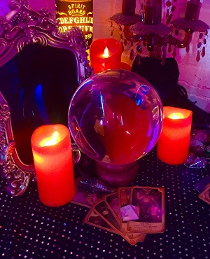 I will do a tarot and crystal ball reading for you