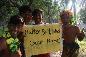 I will get jungle boys to Read and hold your sign in the jungle