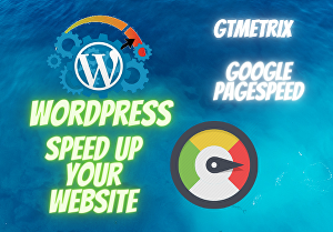 I will Do WordPress website Speed Optimization with Gtmetrix