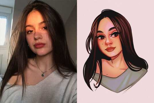 draw your amazing cartoon portrait from your photo