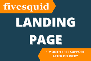 I will design elementor landing page, squeeze page, sales page