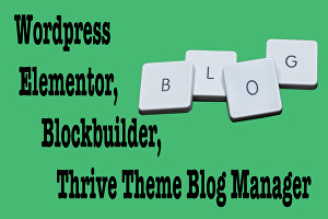 I will be Virtual assistant to edit WordPress blogs article posts with elementor blockbuilder, th