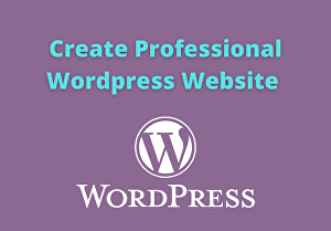I will install WordPress,  Setup Wordpress for your website