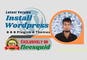I will quickly install WordPress, plugins theme, and add security