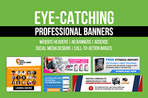 I will I will design a professional web banner for ads