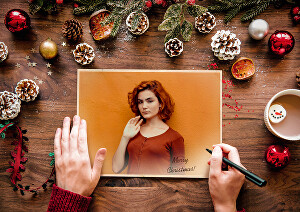 I will Create Your Christmas Greeting Card  with in 24 Hrs