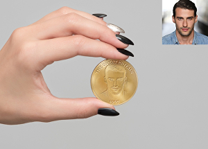 I will decorate a gold coin with your own picture and engrave your own text in 24 Hrs