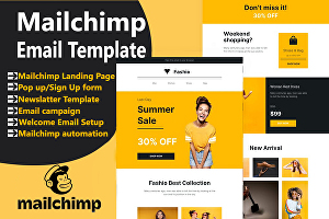 I will create mailchimp email template or newsletter and email campaign automation