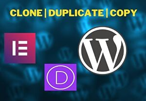 I will clone or duplicate any website into wordpress website