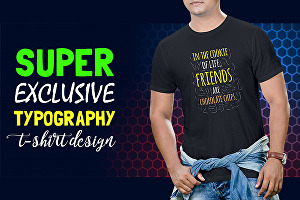 I will design super typography t shirt