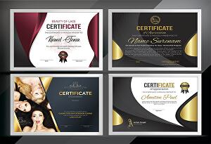 I will design outstanding certificate, gift certificate, completing certificate or seal