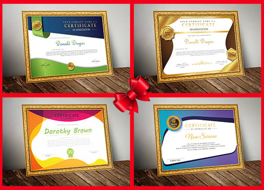 design outstanding certificate, gift certificate, completing certificate or seal