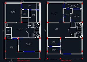 I will redraw your floor plan in autocad