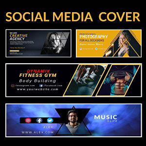 I will create facebook, twitter, youtube cover and thumbnail