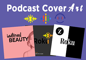 I will design podcast cover art in 24 hours