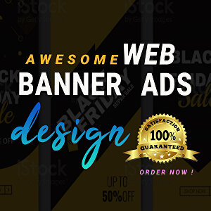 I will do a professional web banner, ads, cover