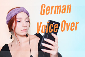 I will record a German Voice Over - 50 words