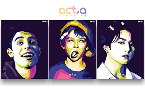 I will make an artistic wheda Pop Art Portrait (WPAP) of your pictures