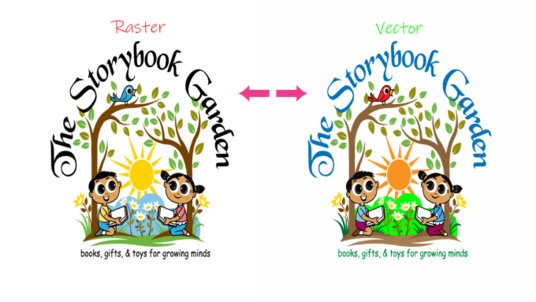 do vector tracing or redraw your logo, Images