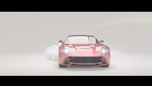 I will create a car logo advertising video