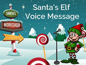 I will record a Christmas message as Santa's Elf