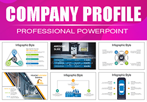 I will do professional company profile powerpoint presentation design