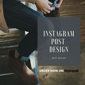 I will design premium and high quality instagram post