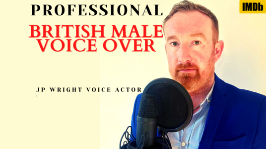 voice over 100 words in a professional British Male RP BBC style in 24 hours