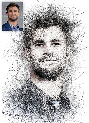 I will turn your photo into an awesome scribble art sketch