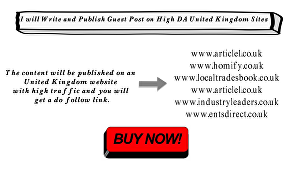 I will Write and Publish Guest Post on UK Website