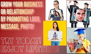 I will place your logo on paper board to promote your business