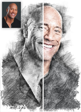 draw the best pencil sketch black-white or color of your portrait